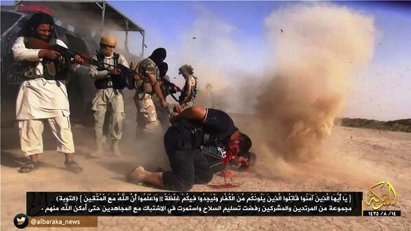 IS milis dödar i Allahs namn bakbundna syrier