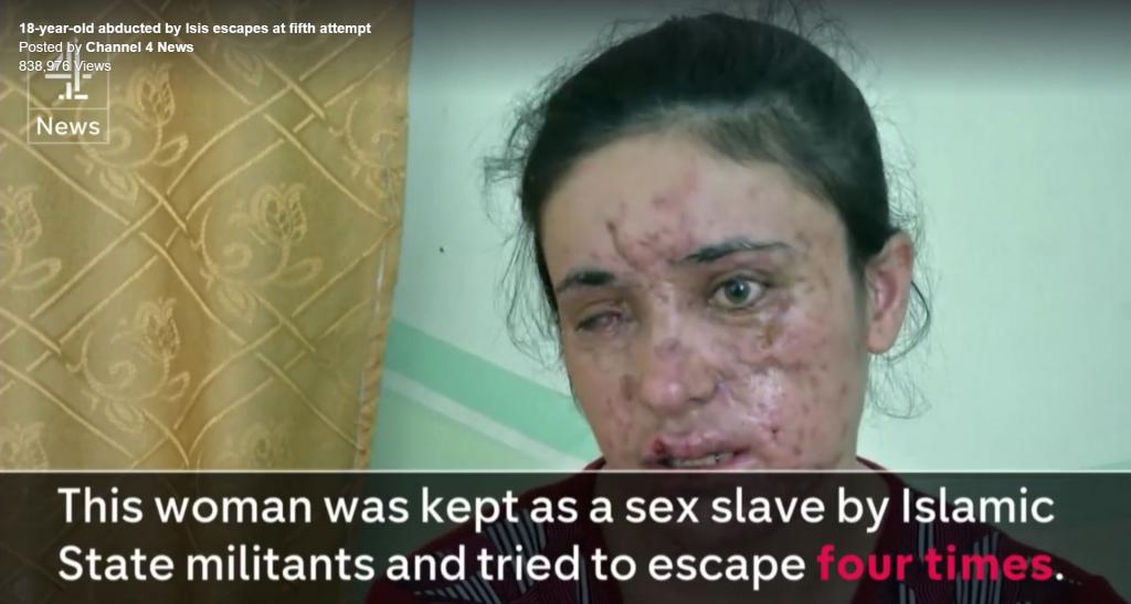 Yazidi kvinna sexslav hos IS