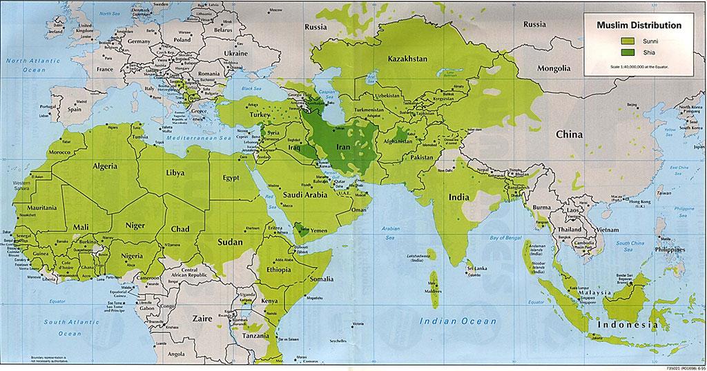 muslim distribution
