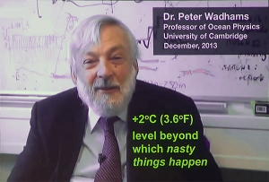 Peter Wadhams 2 degrees