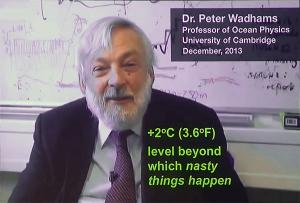 Peter Wadhams 2 degrees